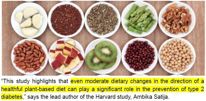 Plant-Based Diet Linked With Substantially Lower Type 2 Diabetes Risk https://t.co/J3WxgKxZe6 - @HarvardChanSPH https://t.co/48jnLk7e9X