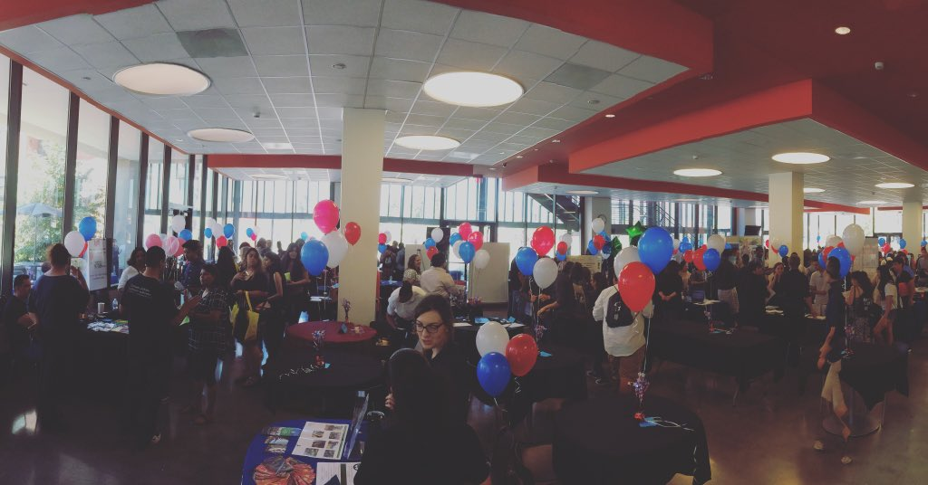 This massive job fair is going on right now! It's still not too late to come! #jobfair #youthjobs #elac