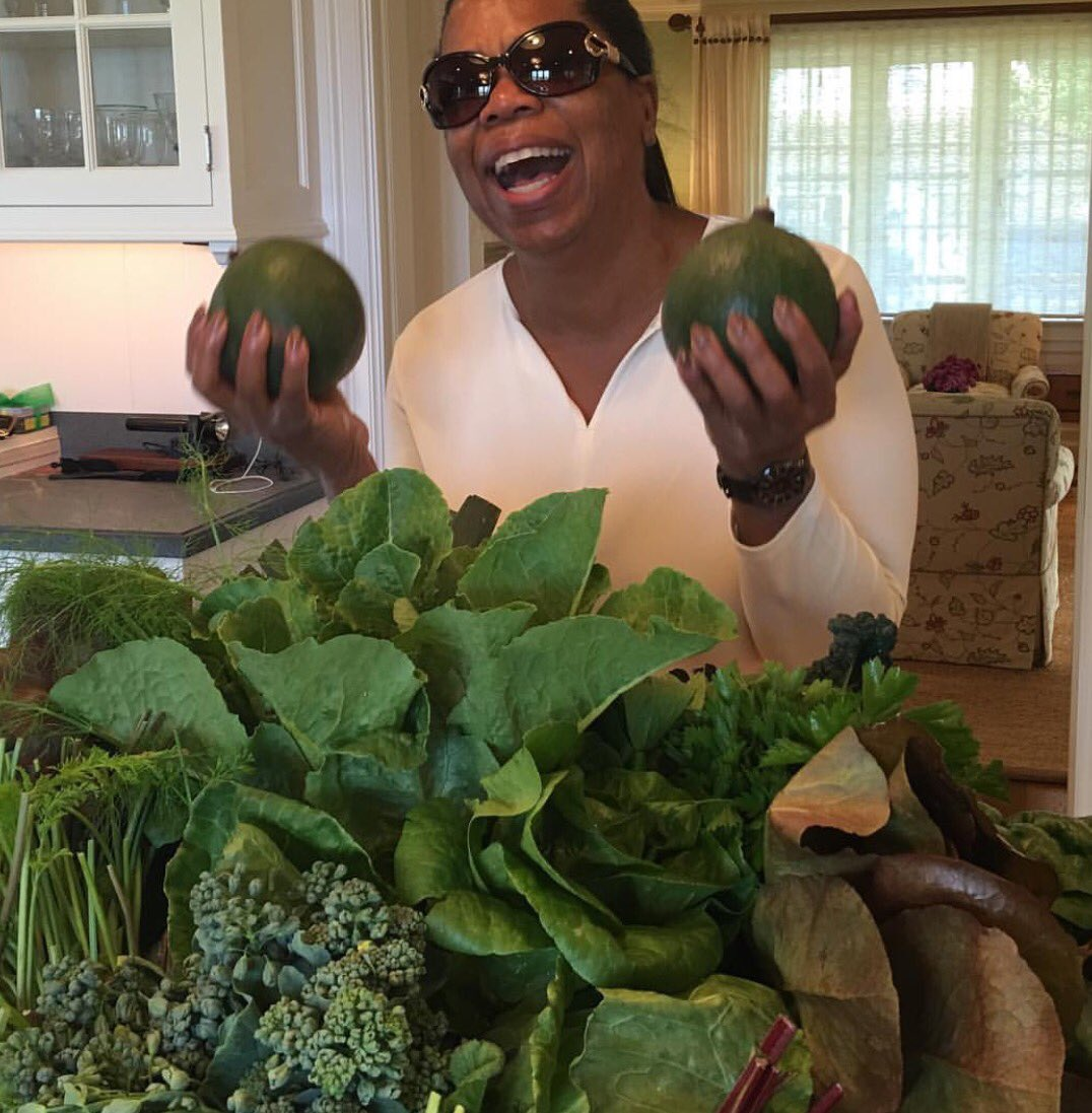 """This makes me so happy. Fresh Harvest. The Real """"GreenLeaf!"""" Join me on Fbook Live from my garden tmrw 4p ET/1p PT 🍃 https://t.co/TC0CpUMBJS"""