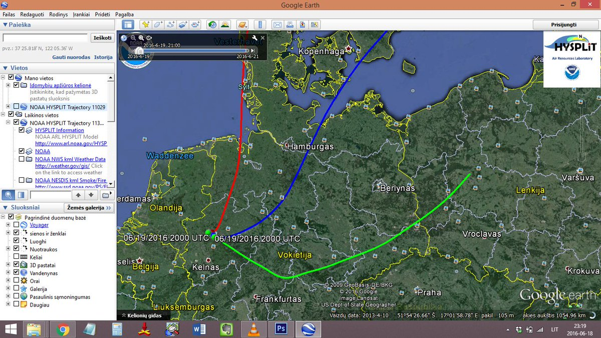 #HYSPLIT for sunday evening #gasballoon flight from launchfield #Gladbeck<br>http://pic.twitter.com/pXK6KkTMQu