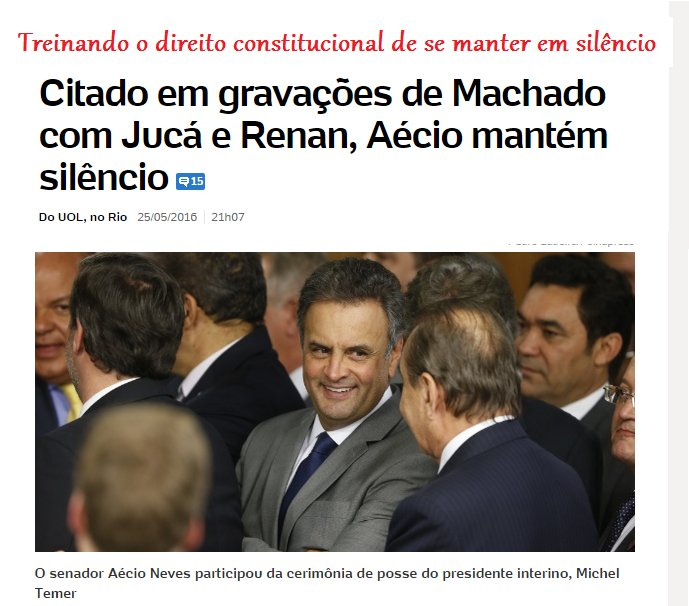 Trainee de réu, Aécio emudece perante as acusações no mensalão tucano, Furnas, Lava jato, Hidroex, Minas Arena etc https://t.co/cl9KHsVE6G
