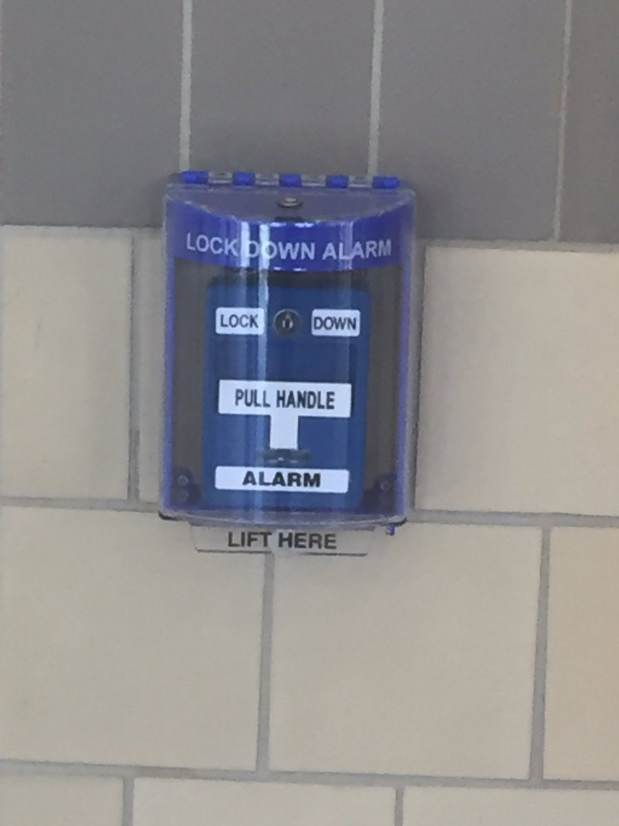 """Saw this """"not a fire alarm"""" thing at a local high school. Didn't know they existed. Sharing without further comment. https://t.co/Rj6U2dWb5Q"""