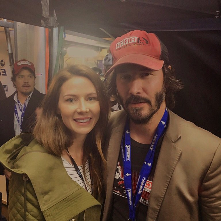 Keanu Reeves decided to come hang in the GT garages..lovely guy.