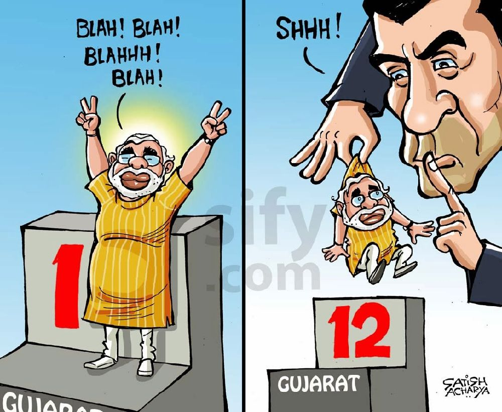 Joy On Twitter A Classic Cartoon Featuring Modi And Rajan By