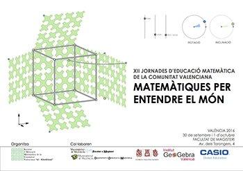 "Cartell XII Jornada  @SEMCV  ""Matemàtiques per entendre el mon"" #XII_jemcv amb @geogebra https://t.co/LA41GuiZkW https://t.co/g8Jt0upJTx"