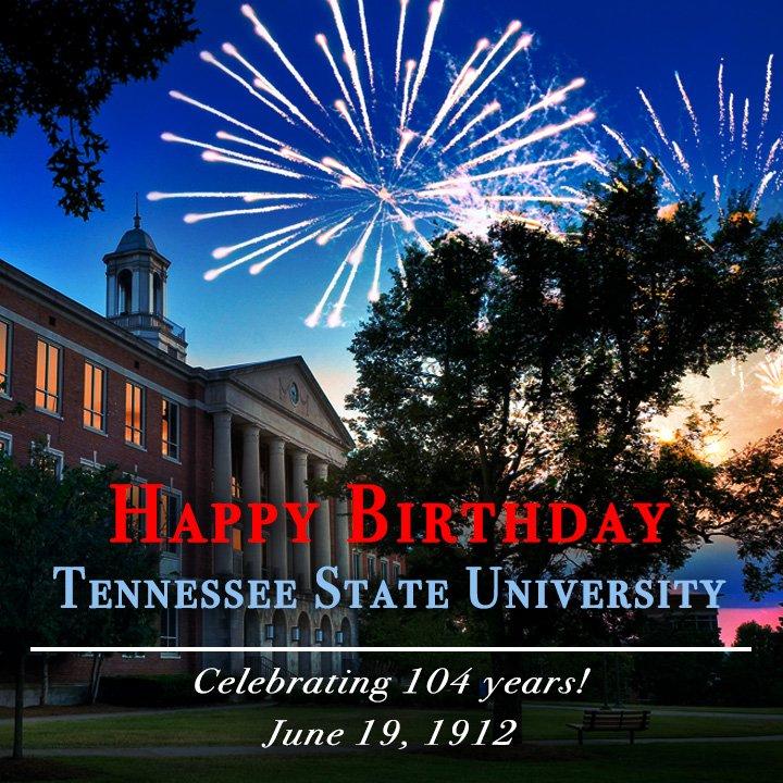 Happy birthday to Tennessee State University! TTT-SSS-U! #ThinkWorkServe https://t.co/ZcHs4IfeDw