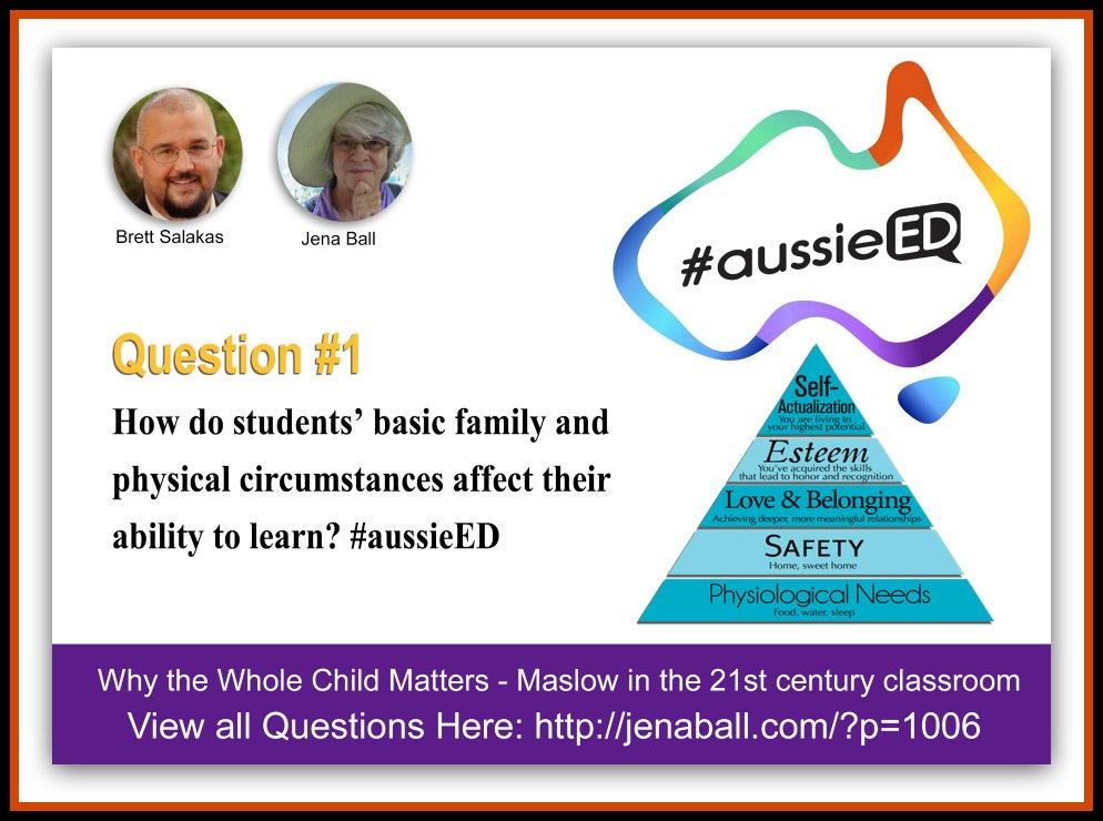 Q1: How do students' basic family and physical circumstances affect their ability to learn? #aussieED https://t.co/o83tA4hY2B
