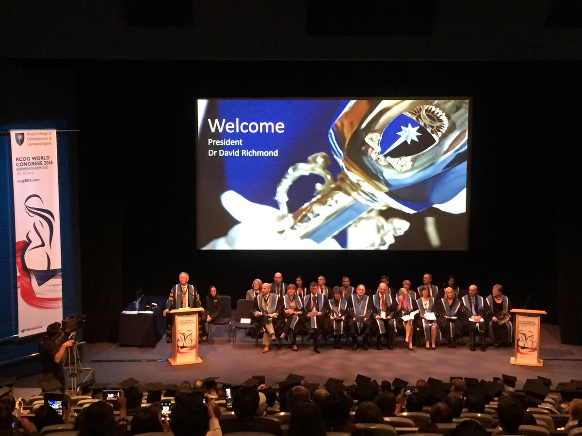 Dr David Richmond opens a special admissions ceremony during #RCOG2016 in Birmingham https://t.co/tI7UZuWw1u