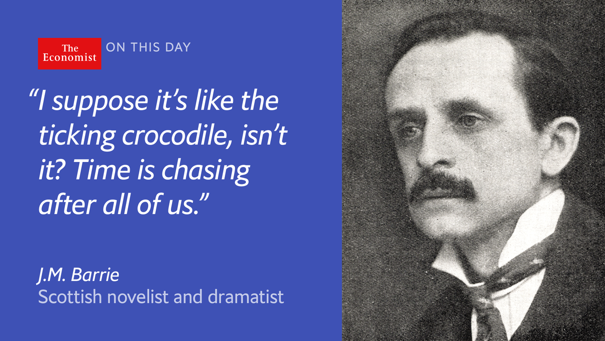Scottish novelist J.M. Barrie—the creator of 'Peter Pan'—died #onthisday 1937