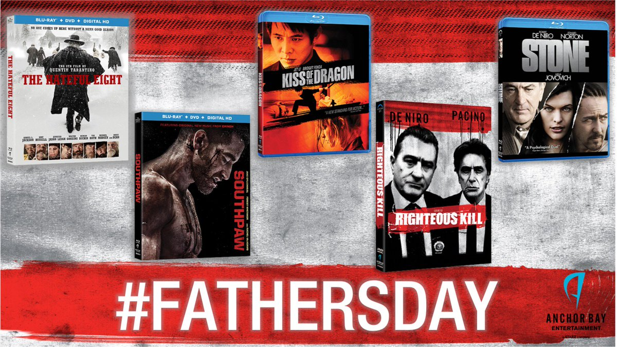 Remember Dad today!  RT&Fav to WIN #RighteousKill @SouthpawMovie @thehatefuleight #KissoftheDragon #Stone  (US only) https://t.co/V8y9u3UaQG