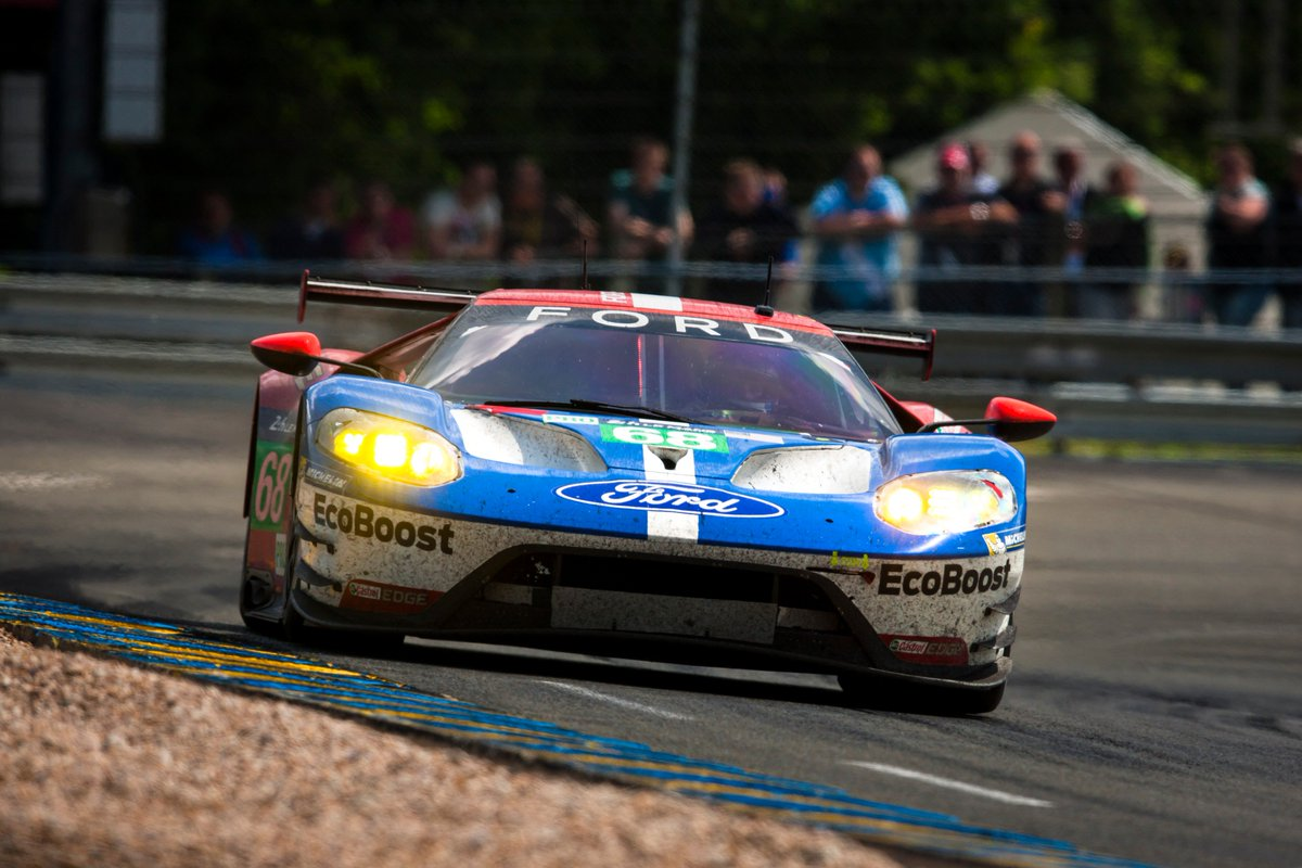 50 years to the day following the '66 Le Mans 1-2-3, the No. 68 #FordGT has won the GTE Pro Class at #LeMans24 https://t.co/jkMLuWlEYm