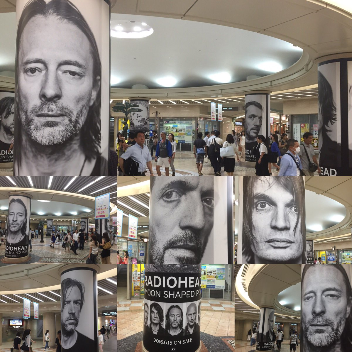 これが見たくて大阪へ!Radioheadの新作『A MOON SHAPED POOL』すげーインパクトのあるOOH!  #radiohead #amoonshapedpool #レディオヘッド #thomyorke #トムヨーク https://t.co/UuNnlmYkeR