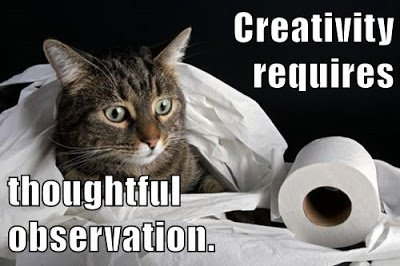 And remember: Creativity requires thoughtful observation. More #growthmindset cats at blog: https://t.co/e7vXzdhFxj https://t.co/HmbrISYve5
