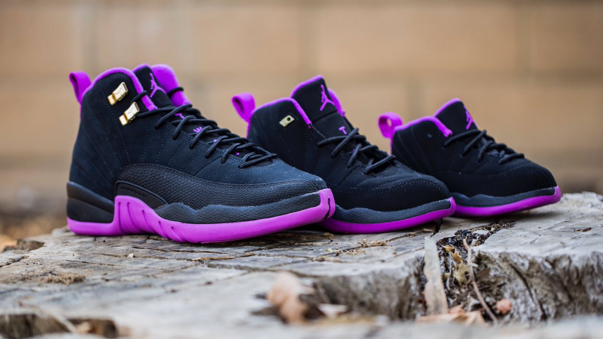 3d5e29f09e8 ... 510816-418 The PS and TD sizes of the Girls Air Jordan 12 Retro Hyper  Violet ...