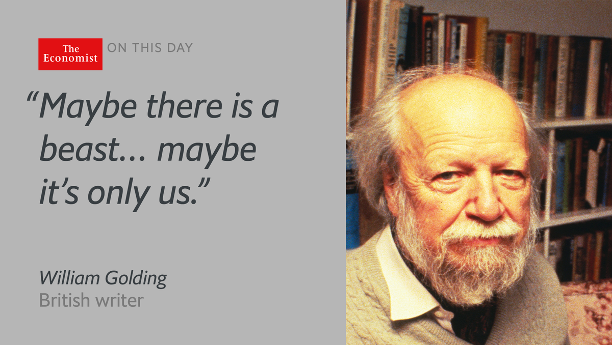 William Golding died #onthisday 1993. He wrote to understand his own 'muddy mind' https://t.co/AEdVM3ZlT5