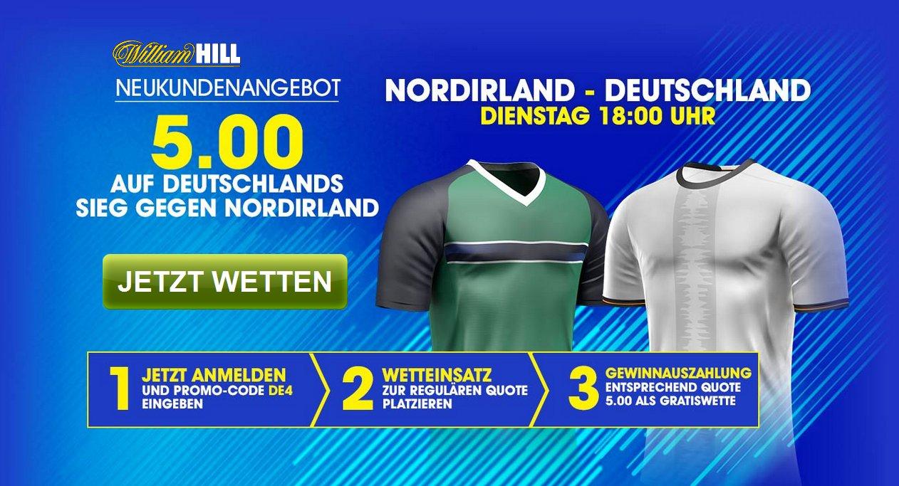 William Hill: Deutschland gewinnt x 5,00