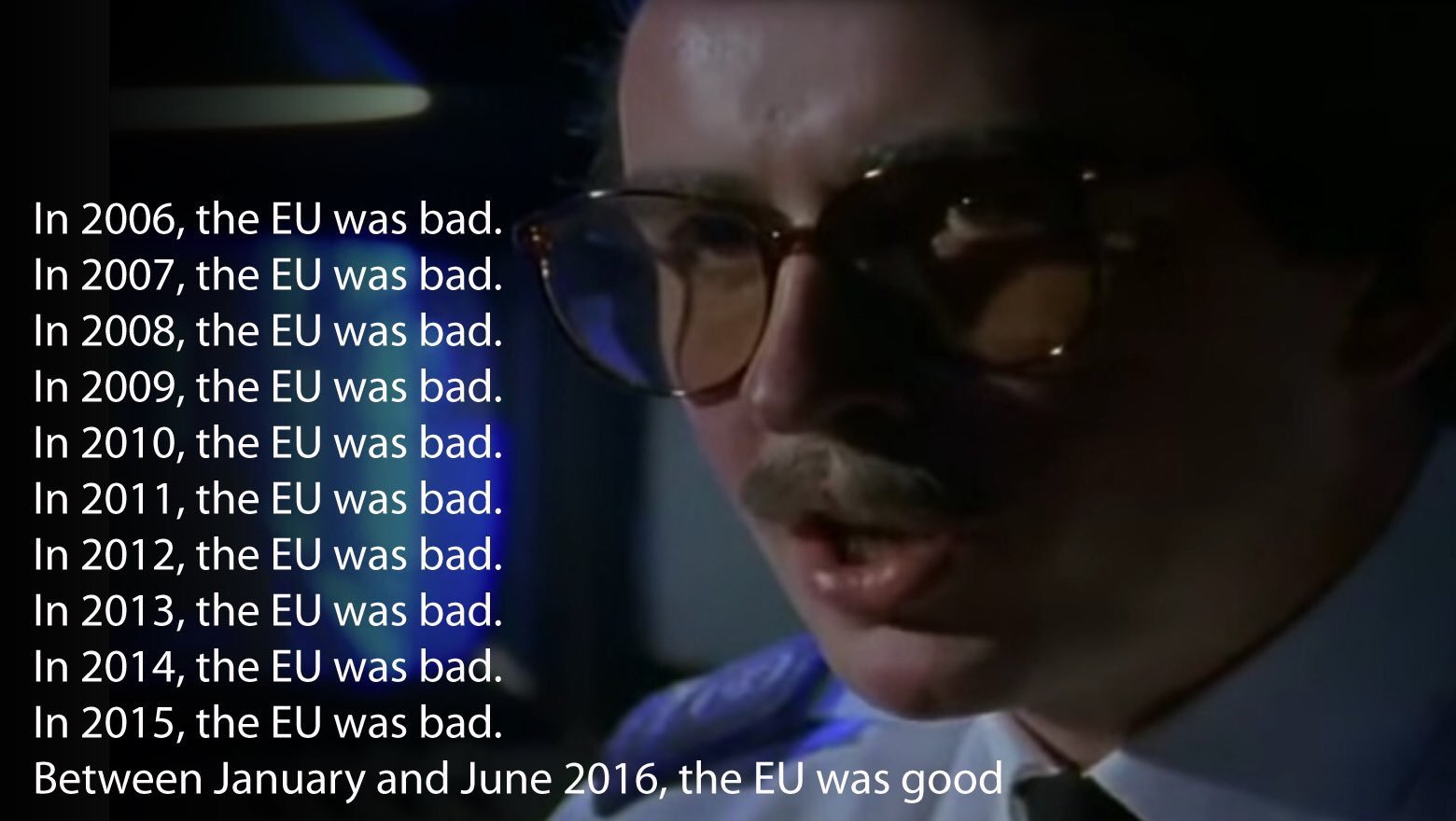 Cameron. Your position on the EU hasn't helped things. Here's a reminder of it, for fans of the Day Today. #bbcqt https://t.co/MB0mAmoptg
