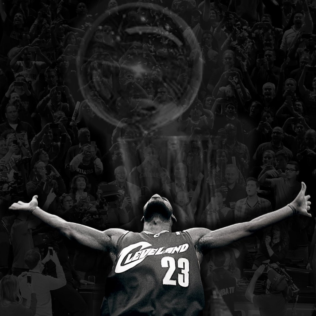 LeBron has done it for Believeland. https://t.co/6JLLScrOq3