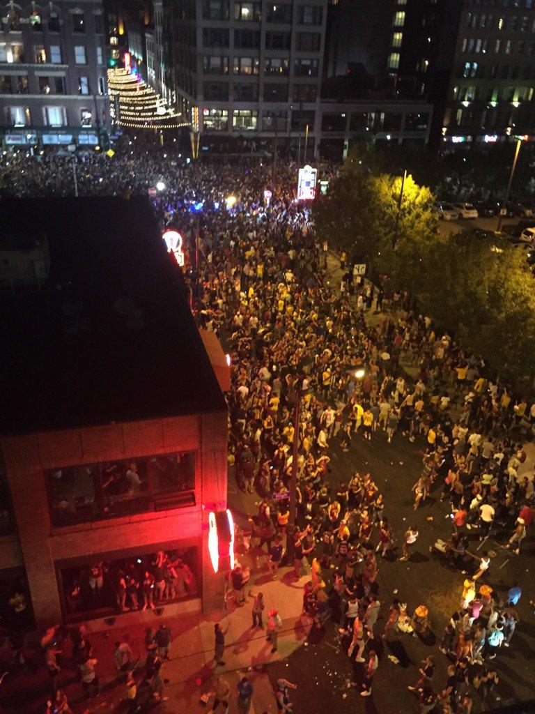 Gateway Plaza/E4th street Cleveland, Ohio. @cavs World Champions! @wkyc https://t.co/Z3df1hJmP6