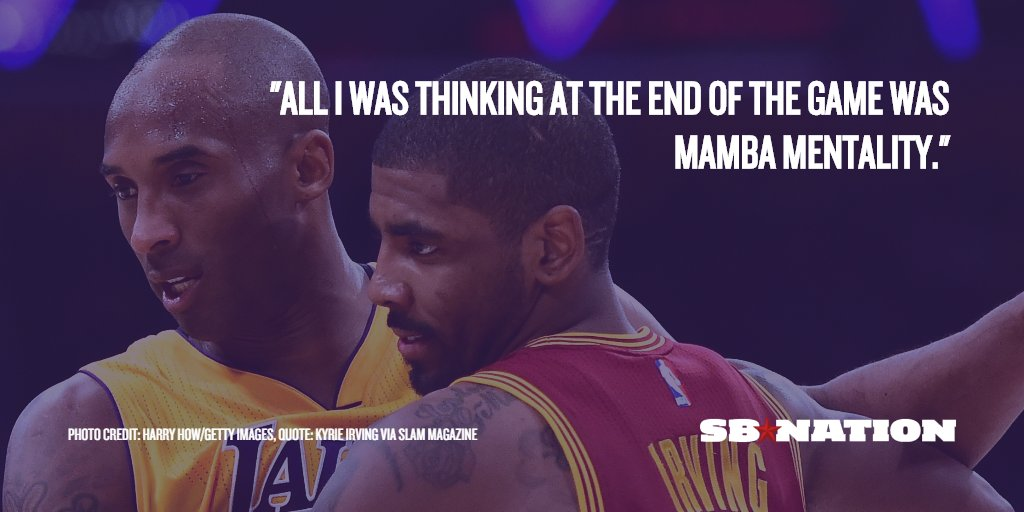 Kyrie Irving was inspired by @kobebryant in the Cavaliers game seven win over the Warriors https://t.co/nc3iSeV7Db https://t.co/iV1QmpJ7nE
