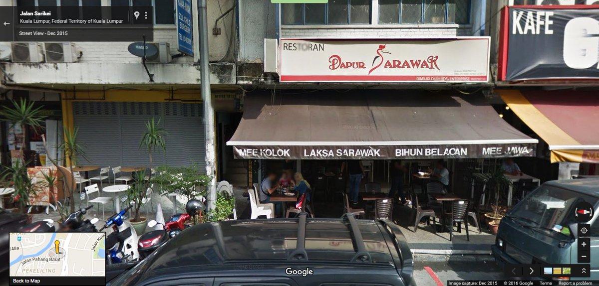 Google Malaysia On Twitter Cuba Masakan Terkenal Sarawak Di Restoran Dapur Jln Sarikei Https T Co Ipbrzdc7qv Berbuka Streetview