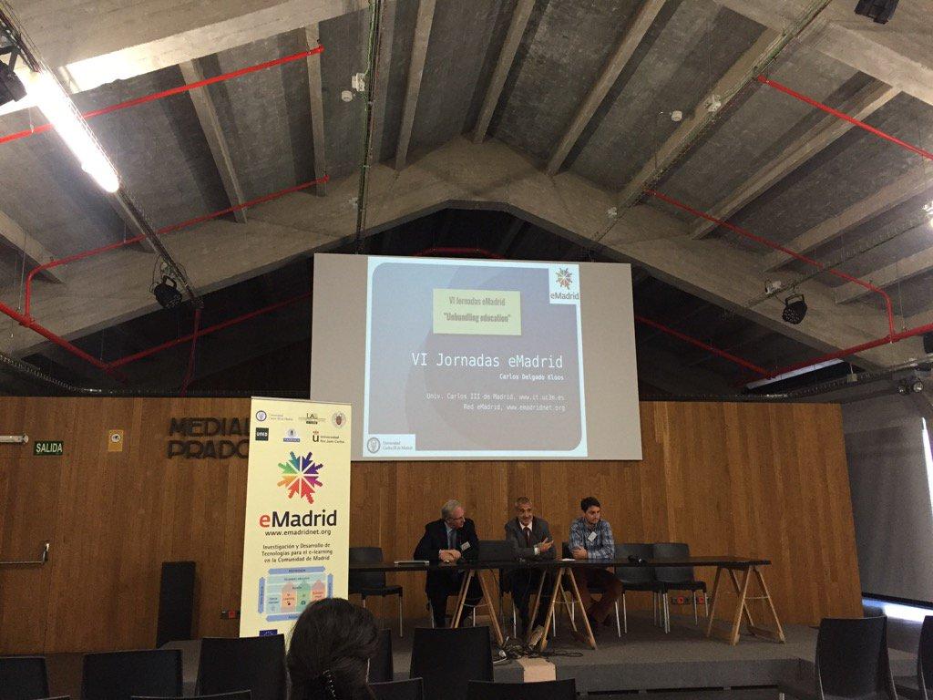 "Iniciando las VI Jornadas eMadrid: ""Unbundling education"" https://t.co/17VJwAXsP0"
