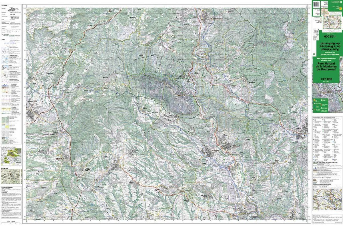 Mapa Topografic De Catalunya.Pn Montserrat On Twitter Mapa Topografic 1 25 000 Del