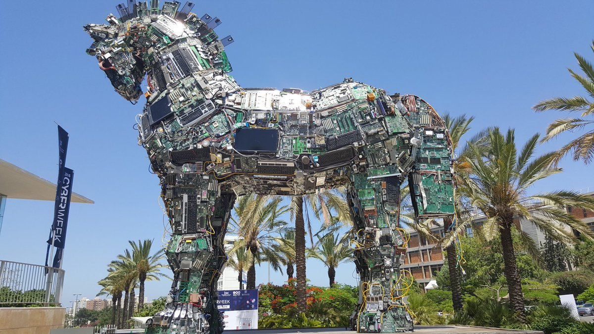 Marie Moe On Twitter The Cyberweek Cyberhorse2016 Is A Trojan Horse Art Installation Made From Infected Computer Parts