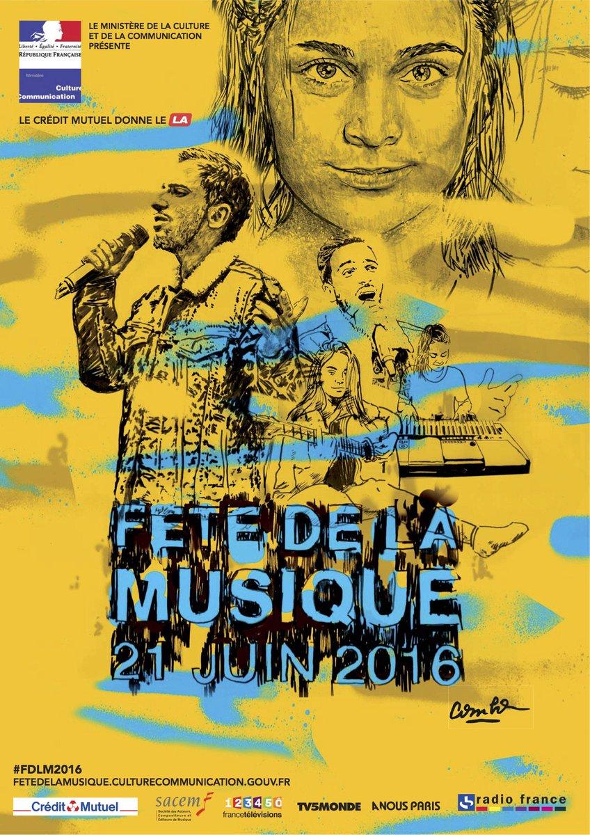 fête de la musique affiche 2016