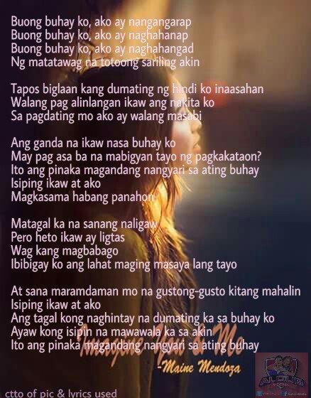 Pagdating ng panahon lyrics english translation