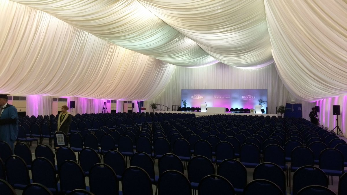 Congratulations to all our graduating students! Here's a peek at our graduation hall #wearebrookes2016 https://t.co/fQ6k6JyYl2