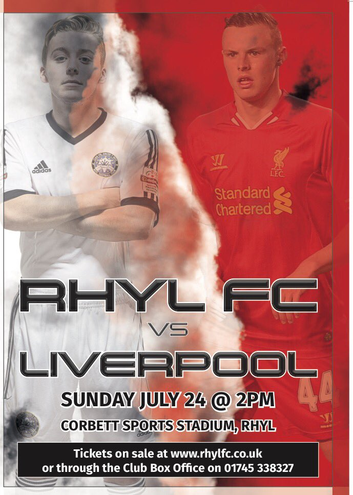 For a chance to Win a Signed Liverpool shirt please RT #rhylvLiv https://t.co/9ut6x3fwtl