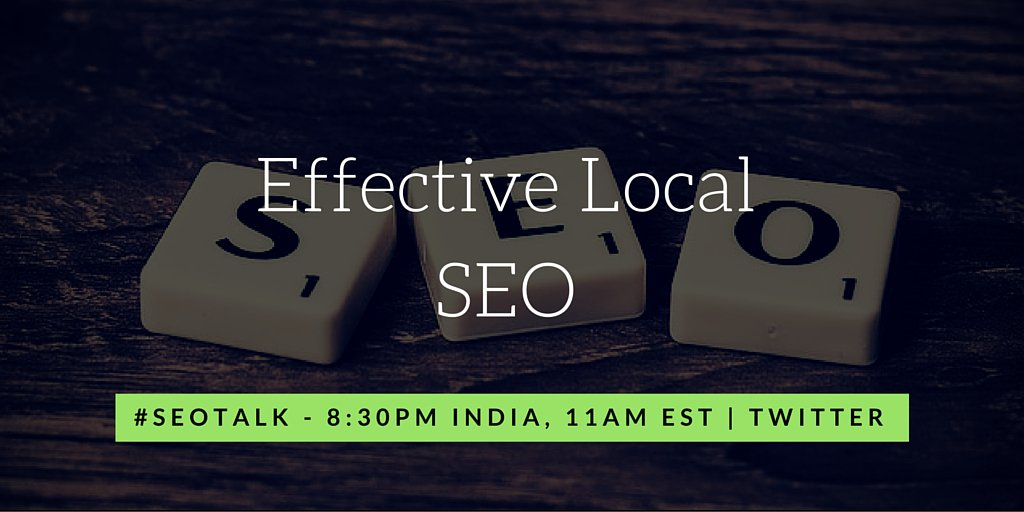 In 3 hours we go live on #SEOTalk discussing about Effective Local SEO techniques. Join us 8:30PM India, 11AM EST https://t.co/6O7Fs9BK5h