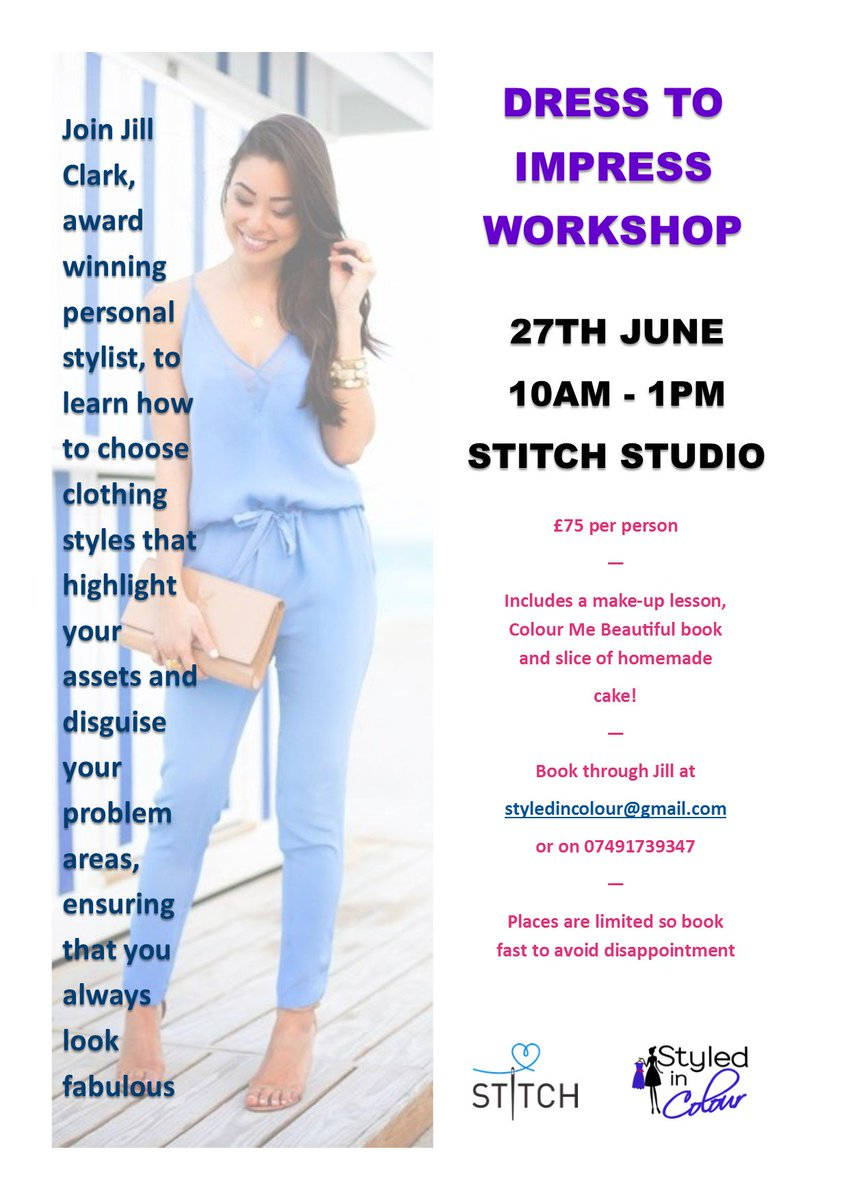 New colour me beautiful book 2016 - Brand New Style Workshops Coming To Ramsbottom