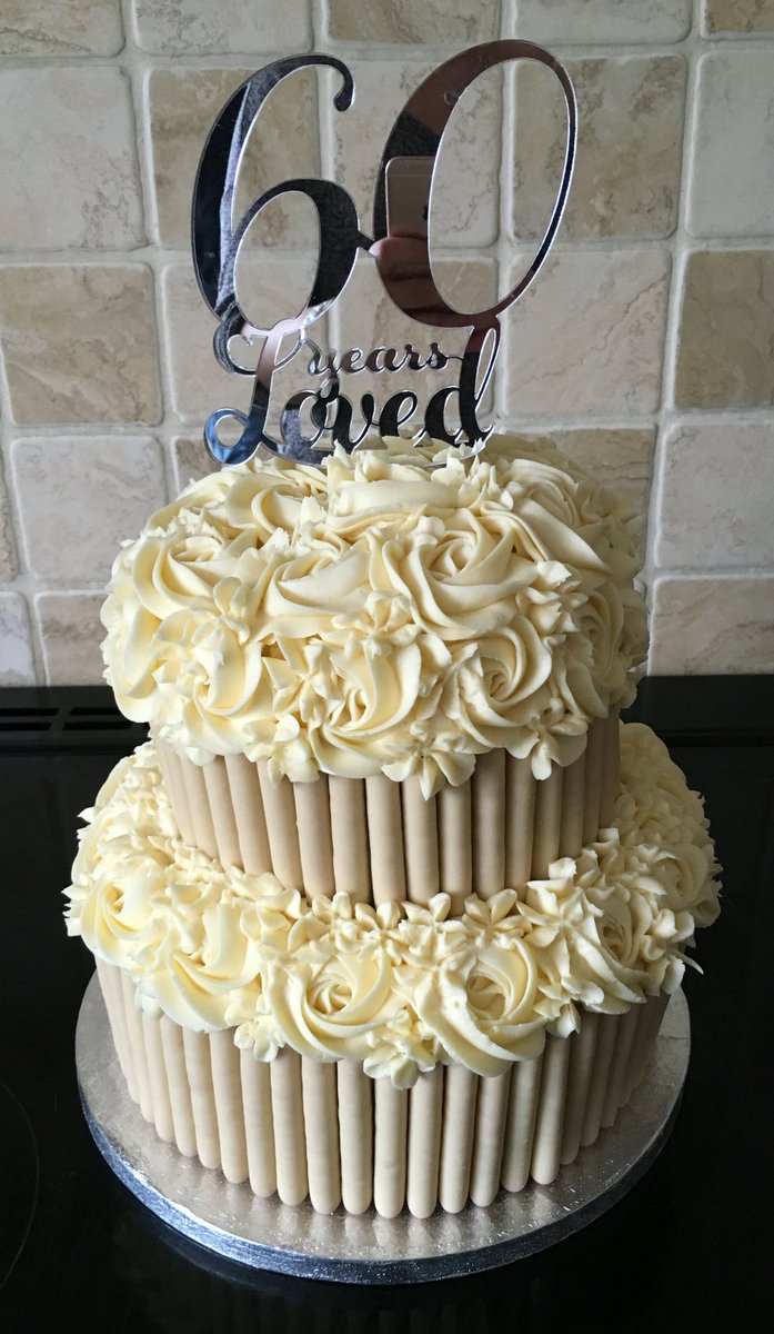 Laura Lous Bakery On Twitter Two Tier 60th Wedding