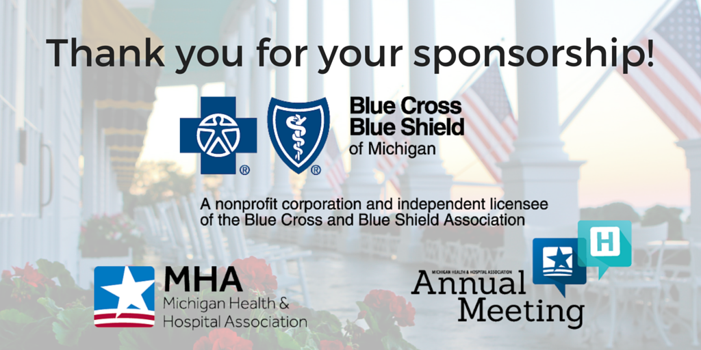 Thank you @BCBSM for being a #MHAannual Gold Sponsor this year, we appreciate your support! https://t.co/Umw33wZ51z https://t.co/l1Itcq9x8h
