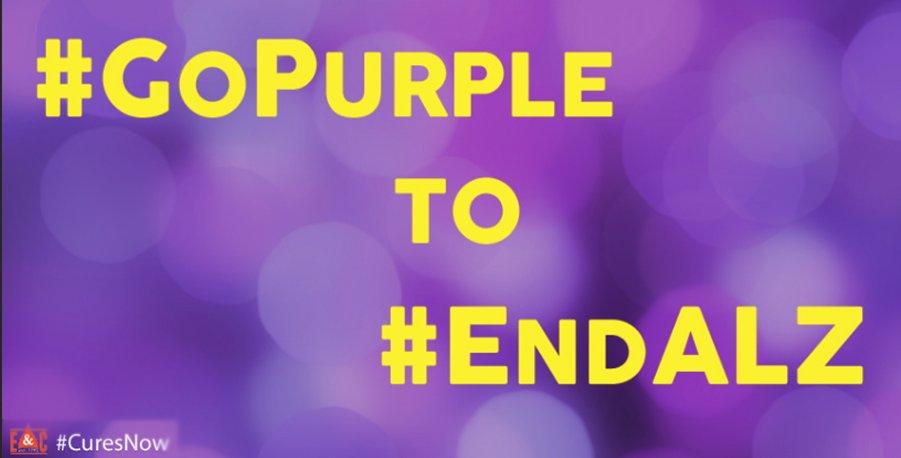 #IGoPurpleFor all those w/ Alzheimers. Wear purple & RT to raise awareness for Alzheimer's & Brain Awareness Month. https://t.co/hdLDgc1aZs