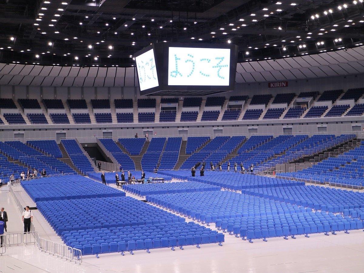 みなさん、おはよう~。横浜アリーナがリニューアルオープン☆場内照明がLEDになって、366インチの大型LEDビジョンが導入されたんだって~!公式HPからも座席が360°眺められるよ~。 https://t.co/kH2msOhzGL https://t.co/zeCNLx05Xf