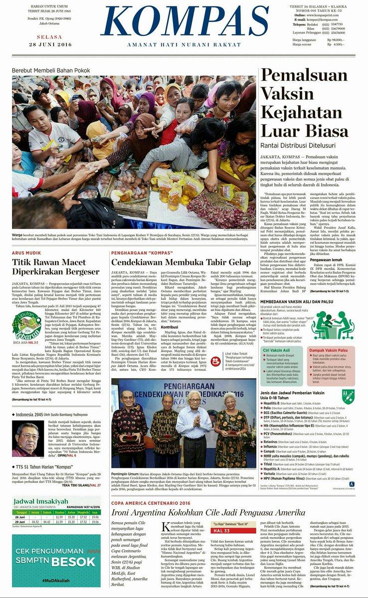 di hut ke-51 @hariankompas, ada tulisan reflektif, mendalam dan menawarkan visi dari Presiden RI ke-6 @SBYudhoyono https://t.co/hggUWmiiwz