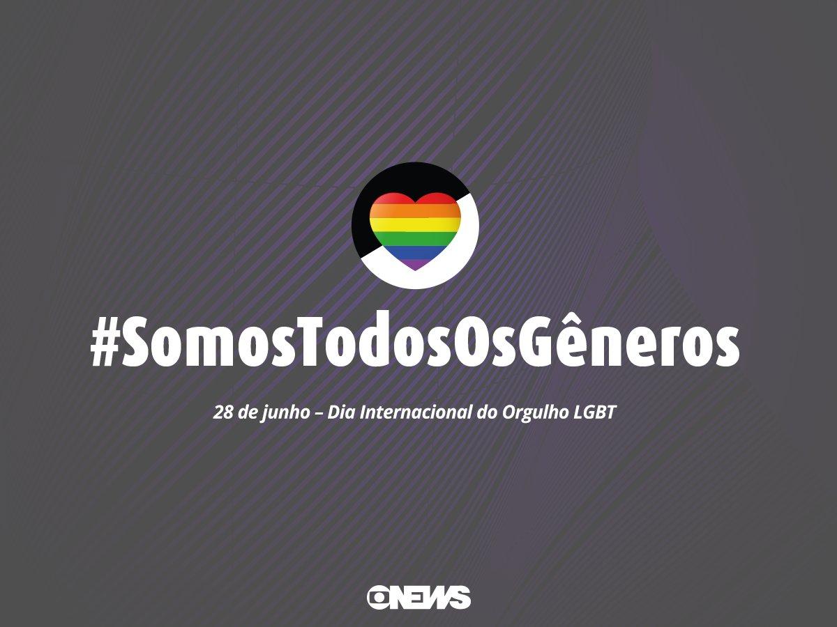 Amanhã é o Dia Internacional do Orgulho LGBT. Faça parte dessa corrente e compartilhe seu apoio #SomosTodosOsGêneros
