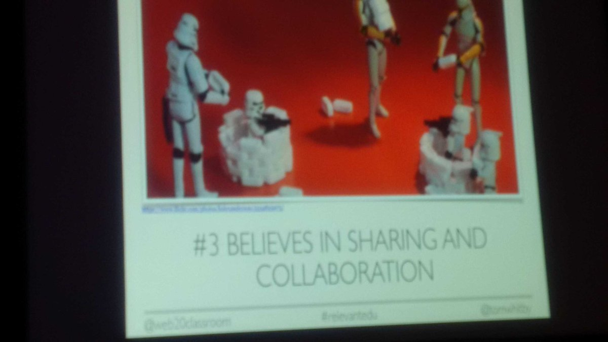 #RelevantEdu caters know that sharing isn't bragging. - @tomwhitby at #ISTE2016 https://t.co/a2FOrJr73o