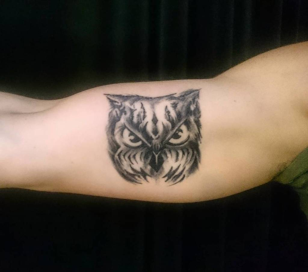 Amax Web Design On Twitter An Inner Bicep Owl Tattoo Done By Me