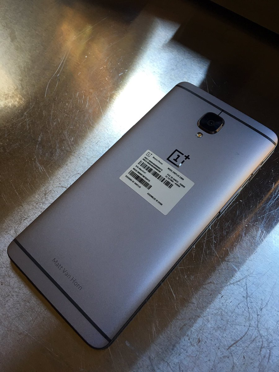 New @oneplus is gorgeous and incredible. Congrats @getpeid https://t.co/x1DkuOD4K9