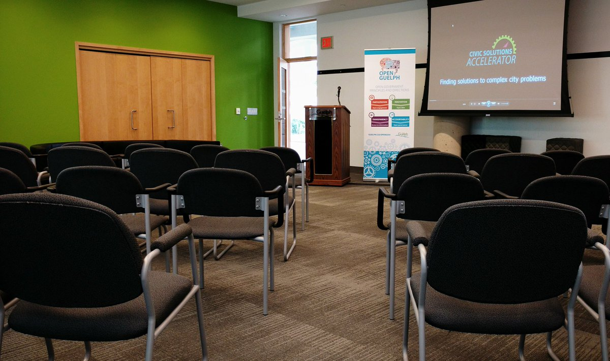 Where the big @cityofguelph Civic Solutions Accelerator announcement will take place https://t.co/dF69s8uktf