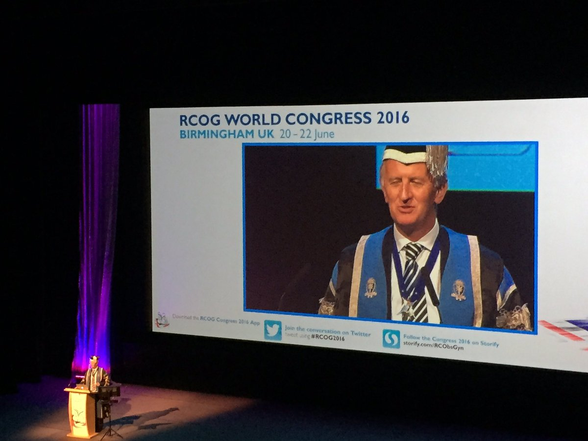 RCOG President, Dr David Richmond, launches the #RCOG2016 Opening Ceremony https://t.co/UVkypdYoaM