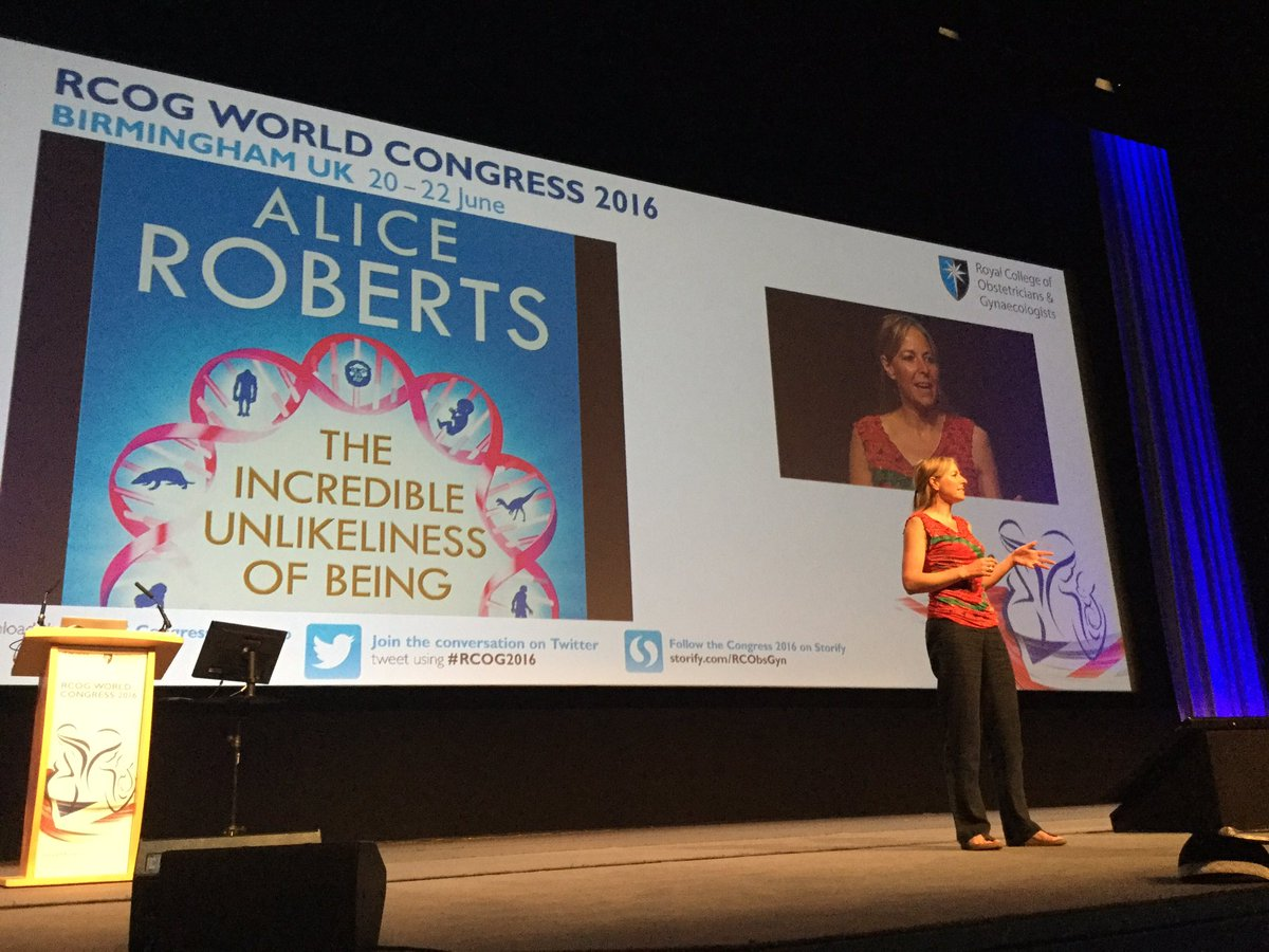 Incredible talk by @DrAliceRoberts at the Opening Ceremony of #RCOG2016 https://t.co/Pkixta74tL