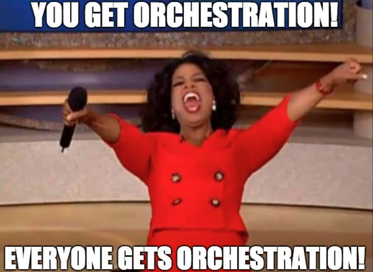 #DockerCon Docker 1.12, with container orchestration built-in! https://t.co/6Cvnmtvoll