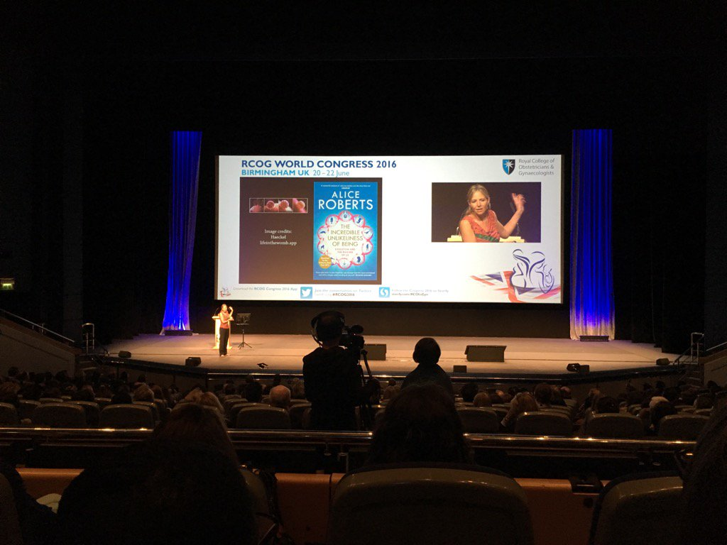 Alice Roberts #RCOG2016 Amazing talk, truly mesmerising. https://t.co/0NMqsLa1Kr