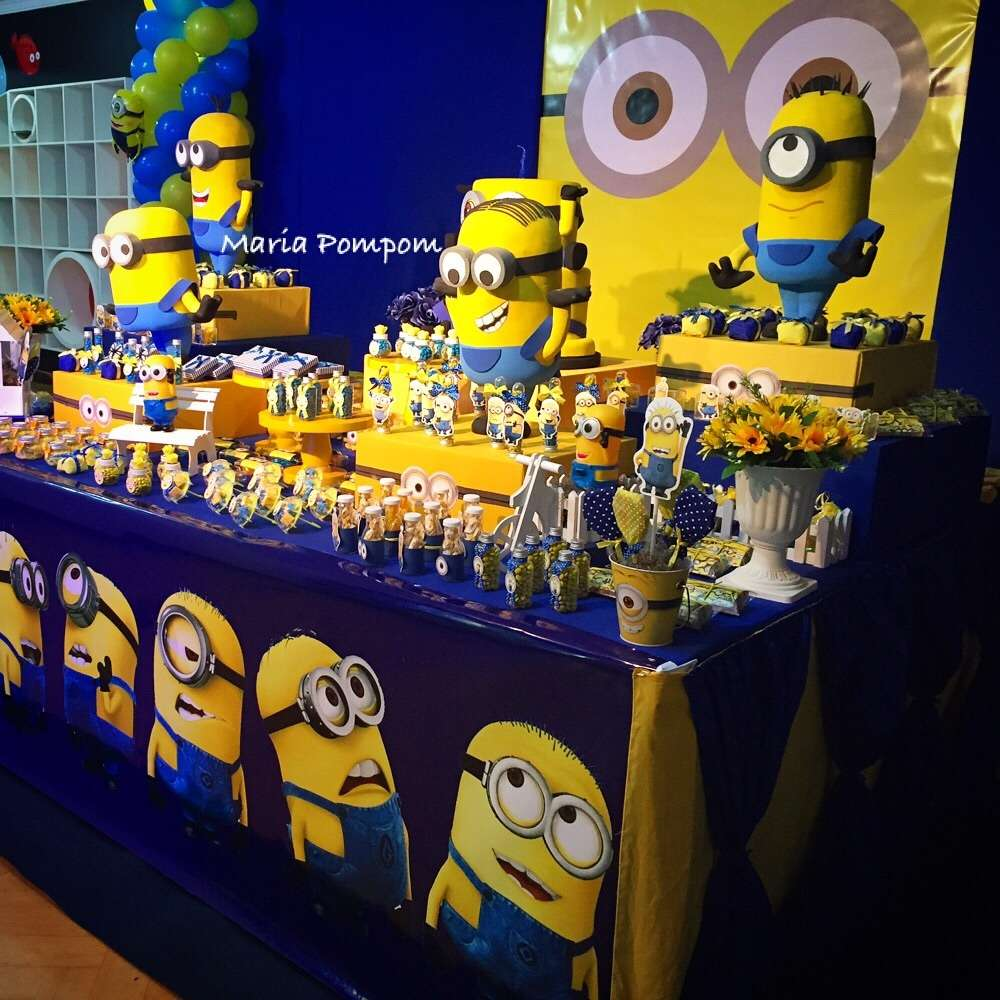 Minions Birthday Party Decoration For BabyAstonished Backdrop Cake Table Detailed Designed To Call Now03224708904pictwitter IHVWiKcCo7