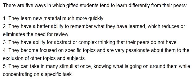5 Ways Gifted Students Learn Differently >> Edweek Teacher On Twitter Here Are 5 Ways Gifted Students Learn